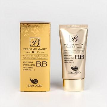 Многофункциональный ББ-крем с муцином улитки SPF50+ PA+++ BERGAMO Magic Snail BB Cream, 50мл.