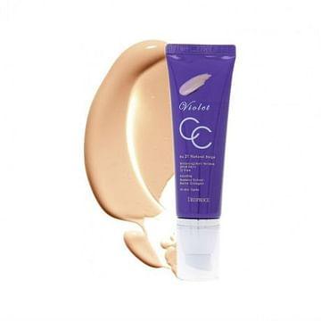 СС крем Deoproce Violet CC Cream SPF49 PA++, 50гр.