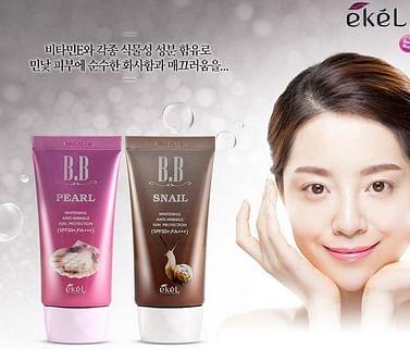 ВВ крем с муцином улитки Ekel BB Cream SPF50+/PA+++, 50мл.