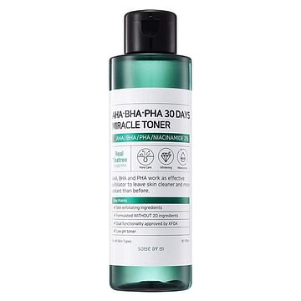 Кислотный очищающий тоник для проблемной кожи SOME BY MI AHA-BHA-PHA 30 Days Miracle Toner, 150мл.