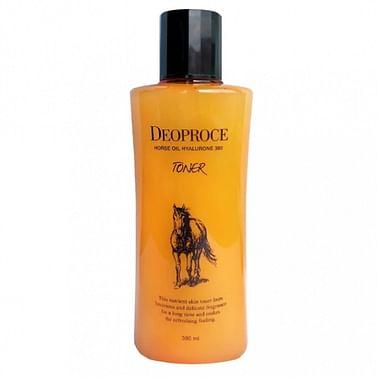 Тонер с гиалуроновой кислотой и лошадиным жиром Deoproce Horse Oil Hyalurone Toner, 380мл.