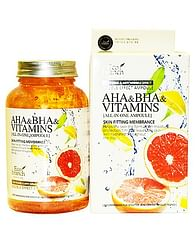 Витаминная освежающая сыворотка Eco branch All-In-One Aha BHA Vitamins, 250мл.