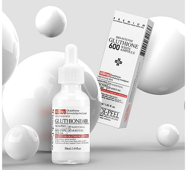 Осветляющая ампульная сыворотка с глутатионом MEDI-PEEL Bio-Intense Gluthione 600 White Ampoule, 30мл.