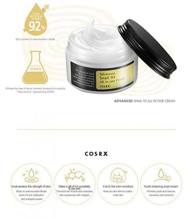 Универсальный крем 92% экстракта муцина улитки COSRX Advanced Snail 92 All in One Cream, 100мл.