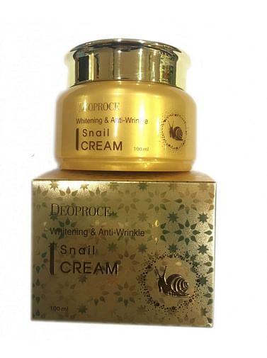 Крем Deoproce для лица с экстрактом улитки Deoproce Whitening and Anti-wrinkle Snail Cream, 100мл.