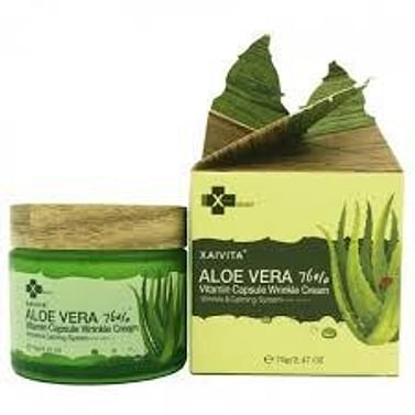 Увлажняющий и питательный крем для лица XAIVITA Aloe 76% Vitamin Capsule Wrinkle Cream, 70гр.