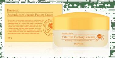 Витаминный крем на основе Облепихи и масла Ши Deoproce Vitamin factory cream, 100гр.