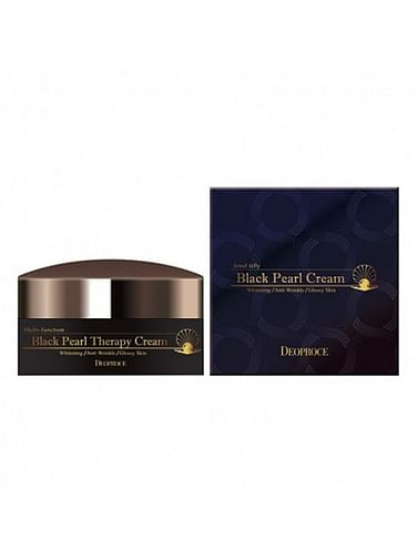 Антивозрастной крем с черным жемчугом и золотом Deoproce Black Pearl Therapy Cream, 100гр.