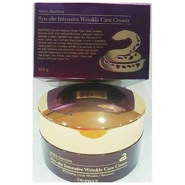 Интенсивный крем со змеиным ядом Deoproce Syn-Ake intensive wrinkle care cream, 100гр.