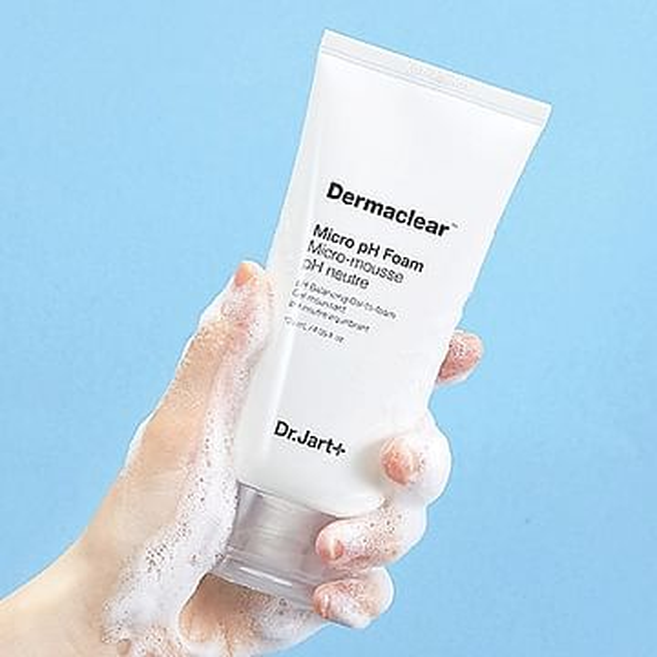 Мягкая пенка для умывания Dr. Jart+ Dermaclear Micro Foam Micro-Mousse Cleansing Foam, 120мл.