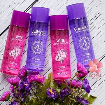 Двухфазная жидкость для снятия макияжа ASPASIA Lip & Eye Remover, 100мл. - Виноград