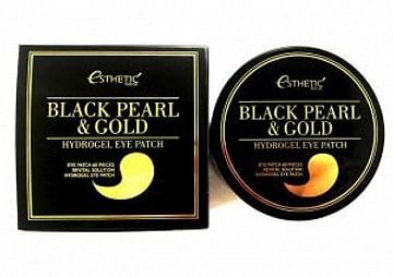 Гидрогелевые патчи для глаз с экстрактом черного жемчуга и золота Esthetic House Black Pearl & Gold Hydrogel Eye Patch, 60 шт.
