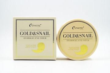 Гидрогелевые патчи для глаз золото и улитка Esthetic House GOLD&SNAIL HYDROGEL EYE PATCH, 60шт.
