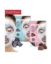 Кислородная маска для лица PUREDERM Deep Purifying Black O2 Bubble Mask, 20гр. - Вулканический пепел