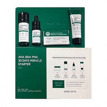 Набор для проблемной кожи с кислотами SOME BY MI AHA/BHA/PHA 30Days Miracle Starer Edition, 4 предмета