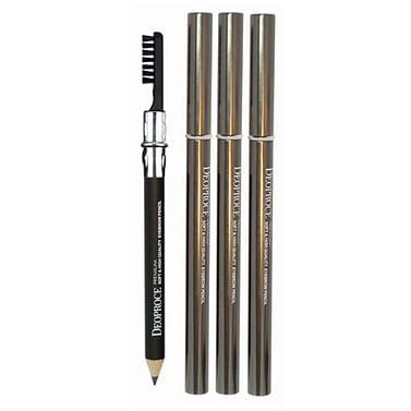 Карандаш для бровей с щеткой для растушевывания Deoproce soft and high quality eyebrow pencil - №24 (Темно-коричневый)