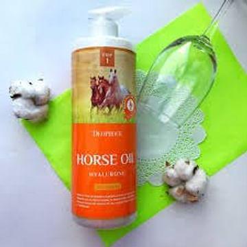 Шампунь с гиалуроновой кислотой и лошадиным жиром Deoproce HORSE OIL HYALURONE SHAMPOO, 1000мл.