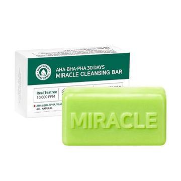 Очищающее мыло для проблемной кожи с кислотами SOME BY MI AHA-BHA-PHA 30 Days Miracle Cleansing Bar, 106гр.