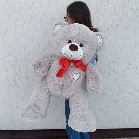 """Медведь """"Гриня пудровый"""" длина 100см (сидя 60см)"""