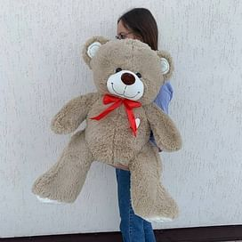 """Медведь """"Гриня кофейный"""" длина 100см (сидя 60см)"""