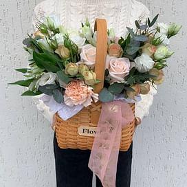 "Корзина цветов ""Латте"""