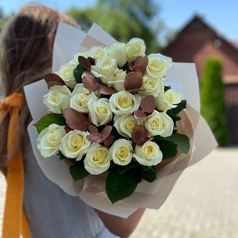 """Букет роз """" Медь"""" 21 роза"""