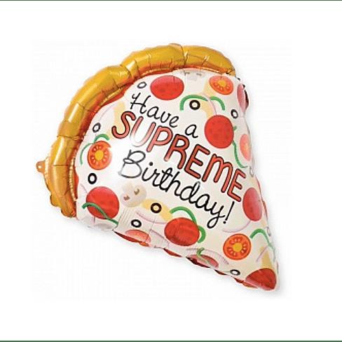 """Фольгированный шар """"Пицца"""" (22''/56 см)"""