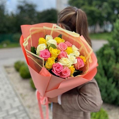 """Букет роз """" Ники """" 21 роза"""
