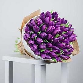 """Букет """"Сюрприз"""" 51 тюльпан"""