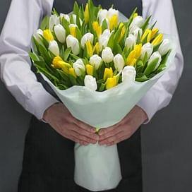 """Букет """"Мармеладки"""" (51 тюльпан)"""