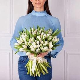 """Букет """"Нежное утро"""" 101 тюльпан"""