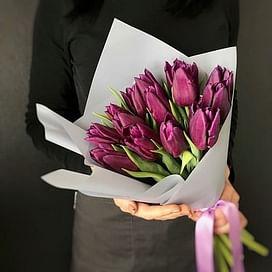 15/19 Фиолетовых тюльпанов