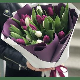 """Букет """" Шарлотта"""" 25 тюльпанов"""