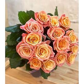 Розы Мисс пигги 15 роз