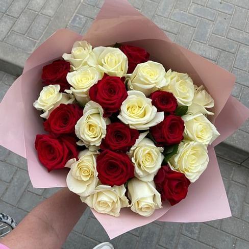"""Букет роз """"Письмо о любви"""" 25 роз"""
