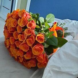 """Букет роз """"Мисс Пигги"""" 51 роза"""