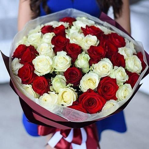 "Букет роз ""Красотка"" 51 роза"