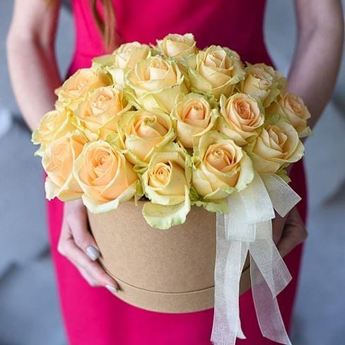 """Розы в коробке """"Крафт"""""""