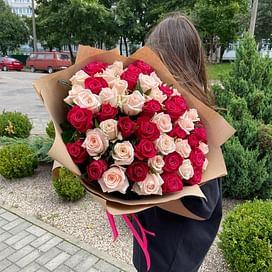 """Букет роз """" Герда """" 51 роза"""
