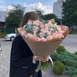 """Букет роз """"Моей девочке"""" 51 роза"""