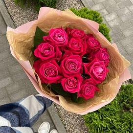 """Букет роз """"love you"""" 11 роз"""