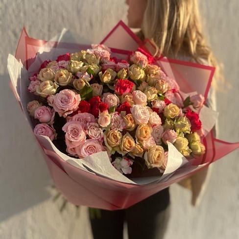 "Букет роз ""Солнце здесь"" 21 роза"