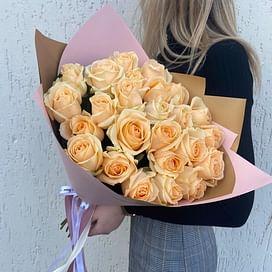 """Букет роз """"Прикосновение"""" 25 роз"""