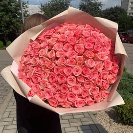"""Букет роз """"Радужный"""" 101 роза"""
