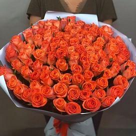 """Букет роз """"ВАУ"""" 101 роза"""