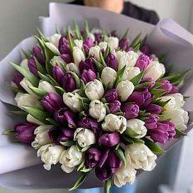 """Букет """"Наваждение"""" 101 тюльпан"""