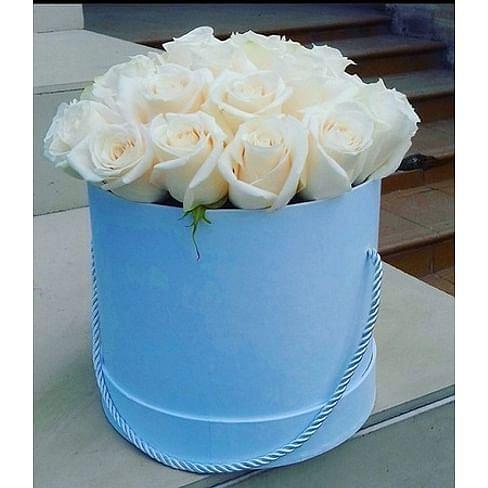 "Розы в коробке ""Анабель"" (25роз)"