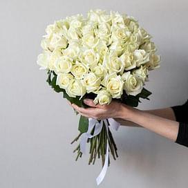"""Букет роз """"Ты просто космос"""" 35 роз"""