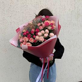 """Букет кустовых роз """"Ангелина"""""""