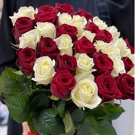 """Букет роз """"Конфетка"""" 35 роз"""